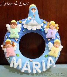 Artes da Luci: Guirlanda para porta de maternidade - Nossa Senhor...