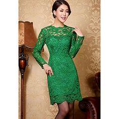 manga larga - Vestido ajustado - verde– EUR € 35.47