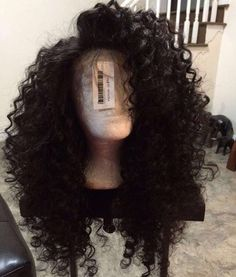 Luffy Curly Deep Parting 13x6 Lace Front Human Hair Wigs With Baby Hair