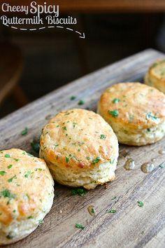 Spicy Cheesy Buttermilk Biscuits