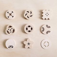 New Kamon Coaster styles, raw & unfinished, straight from the cutters