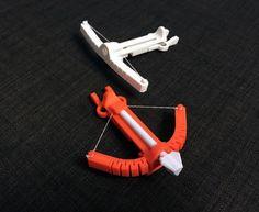 Une petite arbalète imprimée en 3D dun seul tenant