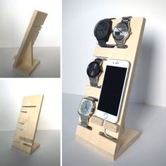 Halten Sie alle Ihre Nacht Stand Artikel ordentlich und organisiert! Halten und bis zu vier Uhren und Ihrem Smartphone auf dieser Organisation Caddy anzeigen. Der Schlitz unter der Telefon-Leiste können Sie Ihr Gerät aufladen, während es angezeigt wird. Kundenspezifisch konfektioniert. Ungefähre Abmessungen: Dicke - 3/4 Höhe - 11 Breite - 5 Tiefe - 4 Bitte geben Sie an, ob Sie für einen Mann oder eine Frau kaufen, wie die Uhr Schlitze für Frauen etwas kleiner werden. Dieser minimale noch ...