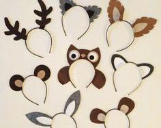 8 quantity animal ears headband birthday party zoo by Partyears