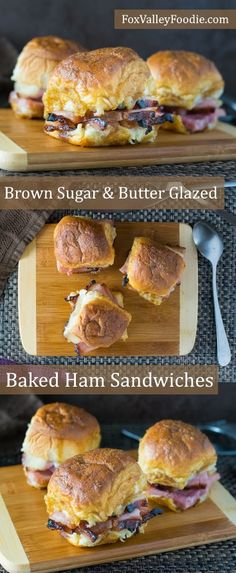 Brown Sugar and Butter Glazed Baked Ham Sandwiches