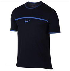 online retailer ff18a 21727 Nike AeroReact Rafa Nadal Challenger Tennis Shirt Mens S Black Photo Blue   Nike Bull Logo