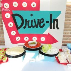 Drive In Diner Birthday Party {food themes} - Tip Junkie