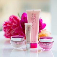 So proud to be a part of an initiative where each sale from the Anew Vitale line will be donated to Avon Foundation for Women to their Breast Cancer Foundation.  If you'd like to support this cause & try this new line go to http://www.sellingbeautyiseasy.com/