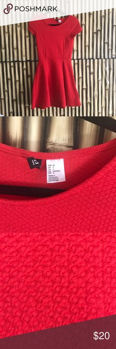 Little Red Skater Dress Super bright red H&M skater dress. Excellent condition. Great movement. H&M Dresses Mini