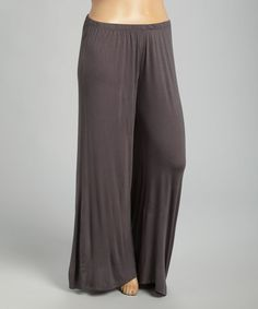 Another great find on #zulily! Charcoal Palazzo Pants - Plus by 24/7 #zulilyfinds