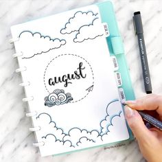 August bullet journal cover page ideas