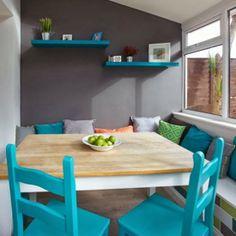 amenajari, interioare, decoratiuni, decor, design interior , bucatarie, culoare, loc de luat masa