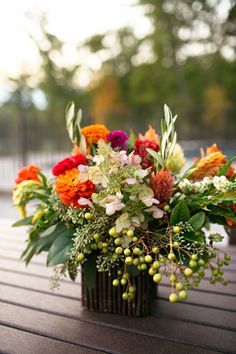 gorgeous fall centerpiece | Heather Roth #wedding