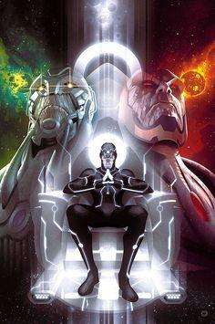 """Justice_League_40 El prólogo de próximo evento JUSTICE LEAGUE de este verano - """"LA GUERRA Darkseid""""! Ha estado construyendo desde JUSTICE LEAGUE # 1. Ahora, Batman, Superman, Wonder Woman, Green Lantern, Flash, Aquaman, Cyborg y el resto del Universo DC se encontrará cara a cara con las dos entidades más poderosas y peligrosas en la existencia cuando ambos llegan a la Tierra. ¿Pero por qué? Para qué extremos con la Liga tiene que ir a sobrevivir? ¿Y qué secretos acerca de la Liga será…"""
