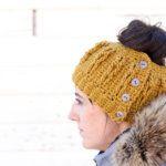 Faux Cabled Crochet Bun Beanie – Free Pattern + Video Tutorial