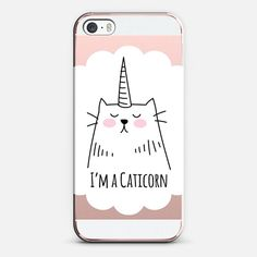 I'm a Caticorn - for the new iPhone SE by Happy Cat Prints | @casetify