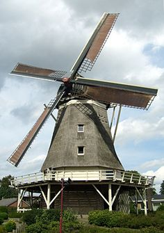 Old windmill in hardenberg, the Netherlands