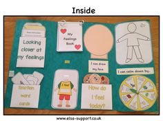My Feelings Lapbook is a brilliant resource for ELSA's, Learning Mentors, or anyone who works one to one with children. Children learn lots about emotions. Emotion Words, Emotion Faces, Learning English For Kids, Kids Learning, Feelings Book, Social Emotional Development, Emotional Child, School Social Work, Worksheets For Kids