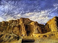 Naghsh-e Rostam, Fars Province  Naqsh-e Rustam (Persian: نقش رستم )is an ancient necropolis located about 12 km northwest of Persepolis, in Fars Province, Iran. It lies a few hundred meters from Naqsh-e Rajab.