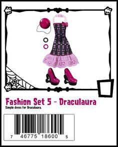 Draculaura Fashion Set [I didn't get a black bracelet - was that really supposed to be there or is it an error in the photo? I'll be pissed if I jumped the gun and bought it from target with a piece missing :(  ~D ]