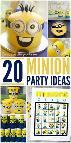 20 Minion Party Ideas If you are planning a Minion themed birthday party, hopefully you will find these ideas and crafts helpful! Click through to read more... A Worthey Read