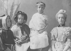 Ted Jr, Ethel, Kermit, and Alice Roosevelt in costume for Halloween.