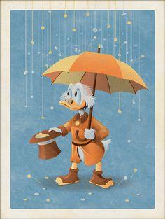 Série de pôsteres da Mondo pra comemorar o lançamento de #DuckTales: Remastered #Game #Illustration #serigrafia