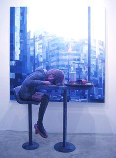 Shintaro Ohata / ''AJISAI'' (painting, polystyrene based sculpture)