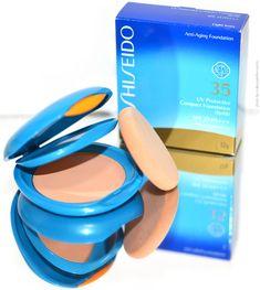 Testando base/protetor e pó da Shiseido. Resenha no blog