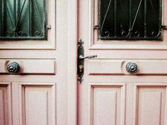 pink , door , old , vintage Door Knockers, Door Knobs, Door Handles, Pink Love, Pretty In Pink, Pale Pink, Perfect Pink, Dusty Pink, When One Door Closes