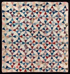 Kaleidoscope, Maker unknown, Possibly made in Pennsylvania, United States, Circa 1900-1920, 73 x 67 Inches