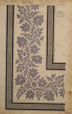 French textiles design, prints, and patterns in 2019 дизайн, текстиль, рису Textile Pattern Design, Textile Patterns, Textile Prints, Pattern Art, Print Patterns, Floral Patterns, Vintage Pattern Design, Border Pattern, Lino Prints
