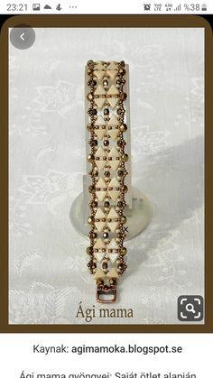 Agi Mama pearls: Based on our own ideas Beaded Braclets, Seed Bead Bracelets, Seed Bead Jewelry, Jewelry Making Beads, Lace Jewelry, Beaded Jewelry Patterns, Jewelry Crafts, Jewelery, Handmade Bracelets