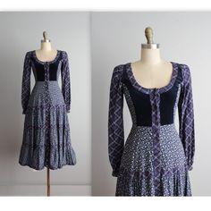 70 de Gunne Sax jurk / / Vintage jaren 1970 door TheVintageStudio