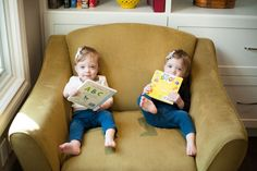These cuties are doing some sister bonding with some reading for #ReadABookDay at RMHC!