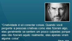 Conceito Steve Jobs de Criatividade.