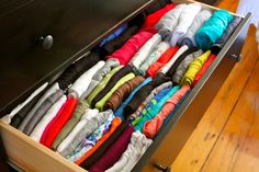 How to organize clothes in your dresser.