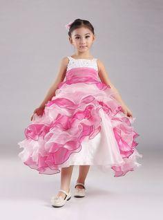 Venda quente 2015 nova vestido de baile de Festa vestido de Organza vestidos menina para casamentos vestido de Festa infantil em Vestidos de Dama de Honra de Casamentos e Eventos no AliExpress.com | Alibaba Group