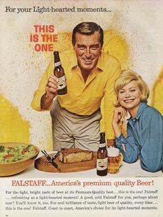 1963 Falstaff Beer Ad Vintage Advertisement Print Mad Men Era Retro Bar / Man Cave Wall Art Decor