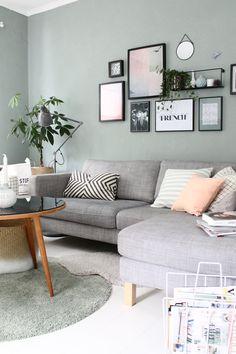 Wohnzimmer Farbe Mint