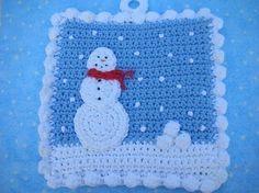 Got Snowballs Potholder Crochet PATTERN by WhiskersAndWool