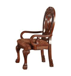 ACME 60269 Quinlan Arm Chair, Cherry Finish, Set of 2 - The price dropped 26%