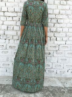 Block printed mal mal maxi cape in mughal print with a lining only in the upper body