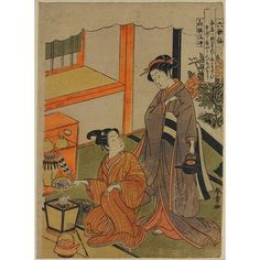 Young Lovers Preparing Tea; The Six Poets | Katsukawa Shunshõ | V