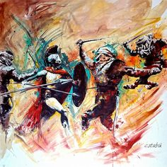 painting by me .oil on canvas #painting #art #300 #sparta #artist