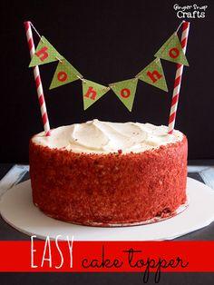 Ginger Snap Crafts: Easy Cake Topper #LifestyleStudios