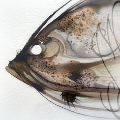Martinefa's Original watercolor and Ink Fish by martinefa