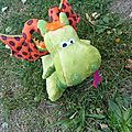 Adorable dragon soft toy by Margotte aux Pommes, pattern on sale in Boitamalix's shop