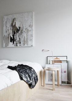 Peinture abstrait black and white