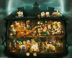 Personajes de Smash Bros Brawl en la Mansion de Luigi
